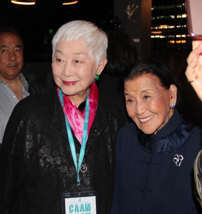 92歲的盧燕(左)和99歲的江孫芸,已經是認識了超過半世紀。(記者李晗 / 攝影)