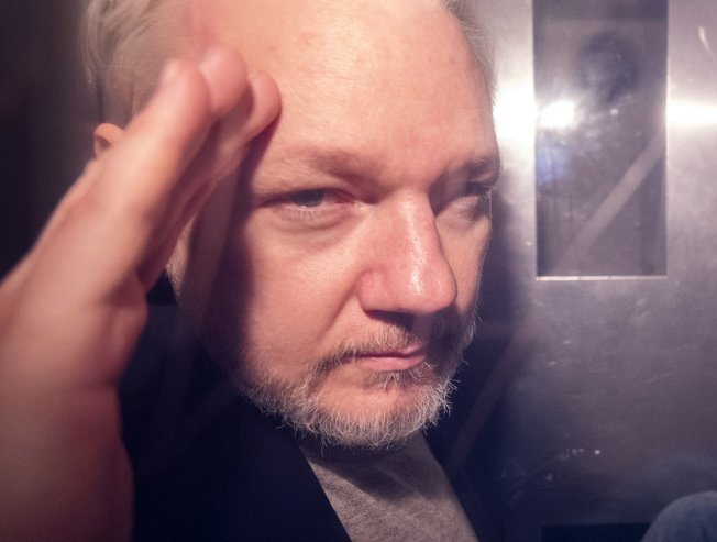 阿桑吉(Julian Assange)。 歐新社