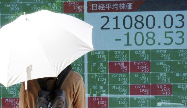 亞股週線全數下跌。 美聯社