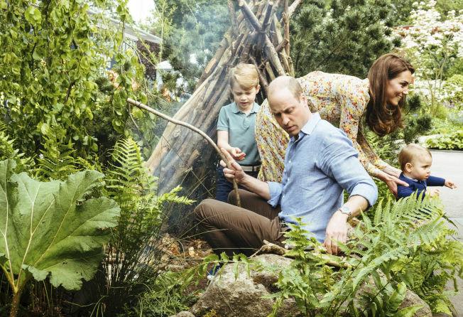 威廉王子、凱特一家人開心玩樂。(美聯社)