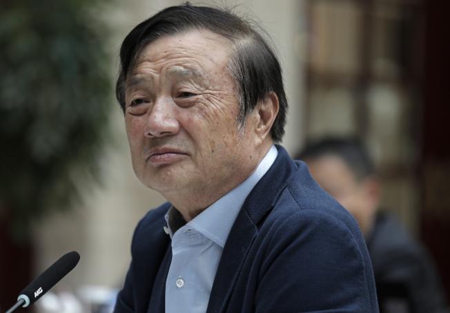 任正非21日在華為深圳總部說,早有準備,不擔心美國封鎖華為。圖為任正非今年1月在深圳受訪。(美聯社)