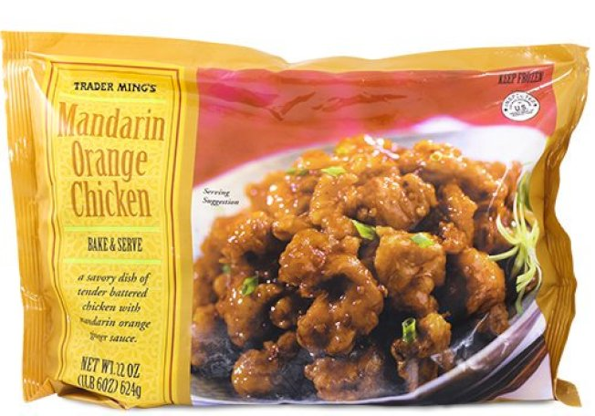 Trader Joe's的現成餐點售價划算,一袋22盎司的陳皮雞賣4.99元,但同樣重量產品在沃爾瑪則需要5.98元。( 取自推特)