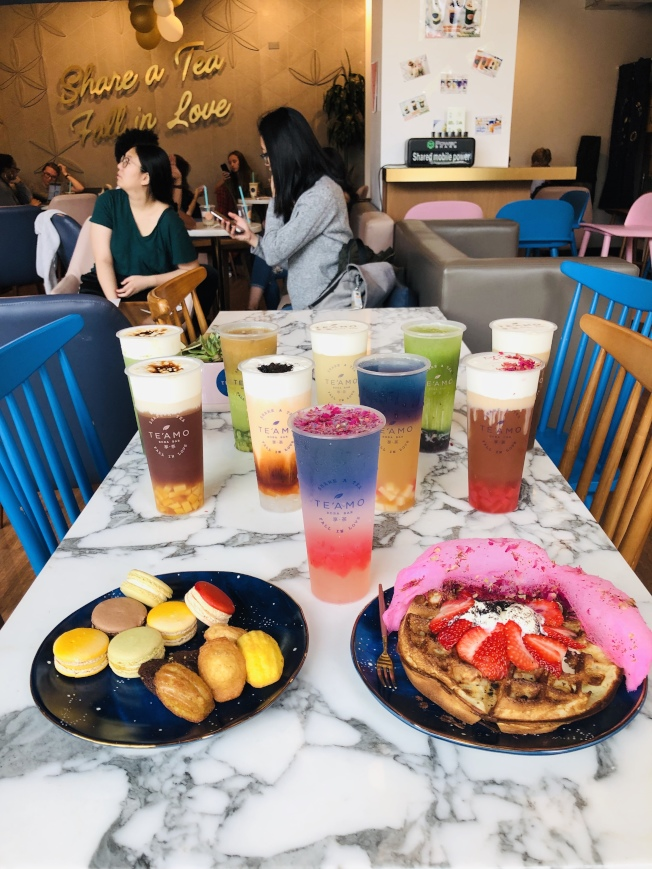 萬怡梅「享茶」店有機奶茶及飲品。
