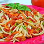 料理功夫|番茄雞肉義大利麵沙拉
