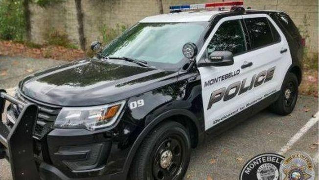 失竊的蒙特貝婁市警局警車。(蒙特貝婁市警局提供)