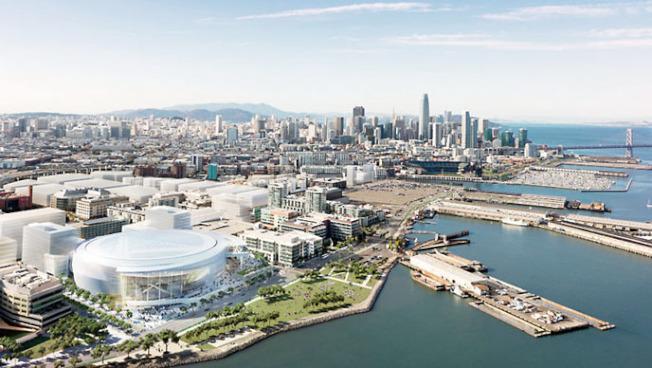 金州勇士的新球場「大通中心」,位於米慎灣(Mission Bay),將於今年9月啟用。(Getty Images)