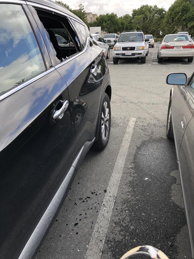 汽車破窗竊盜案頻傳,非常猖獗。(袁小姐提供)