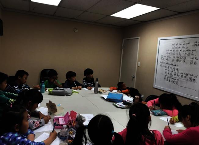 為促進學生對中文的興趣,樹人學院事在校內舉辦朗讀比賽,優勝者可擔任中文小主播。(樹人學院提供)