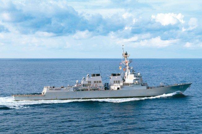 美普雷貝爾號(Preble)驅逐艦。路透