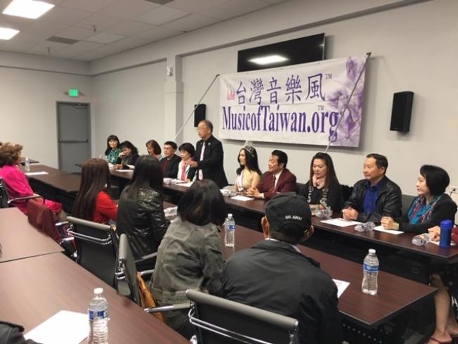 由台美音樂會協會主辦,世界台灣小姐及基金會和洛杉磯海外獅子會協辦的第27屆台灣風音樂會,訂6月1日(星期六)下午在洛杉磯僑教中心登場。部分歌手在23日的記者會上亮相。(記者楊青/攝影)