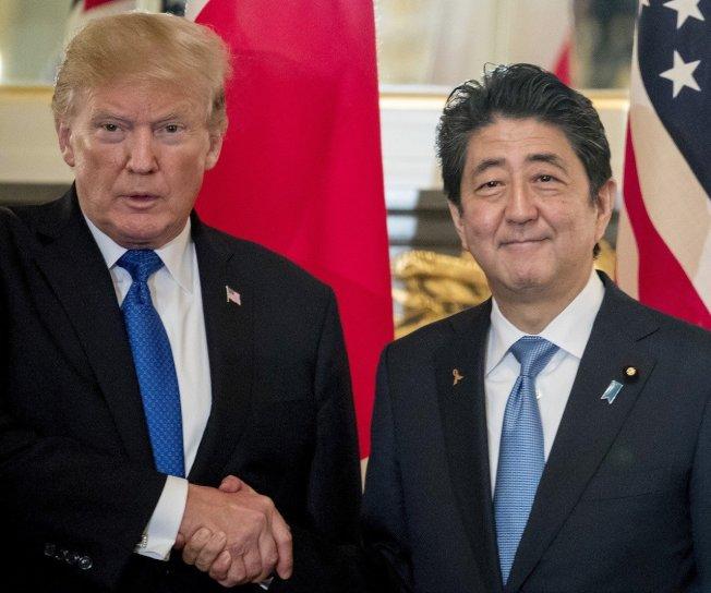美國總統川普明(25)天將以國賓身分抵達日本,展開4天3夜的訪問。 美聯社