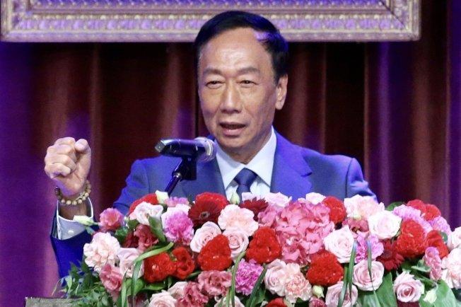 郭台銘表示,在前總統馬英九任內,他曾經跟馬英九講過好幾次,「你每次去拜訪參訪的國家,我永遠不會去投資」。 記者林伯東/攝影