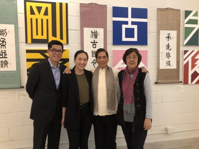 由武術文化教育會帶來的藝術文化展覽,深藏郭氏一家人的心血。(記者顏潔恩/攝影)