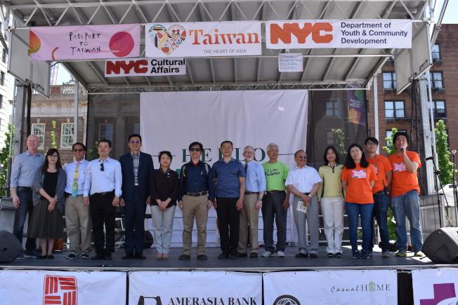 第18屆「台灣巡禮文化藝術節」26日在曼哈頓聯合廣場公園展開。(記者顏嘉瑩/攝影)