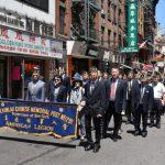 銘記先烈貢獻 華埠退伍軍人國殤日遊行