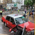 計程車下坡失控 衝上安全島10傷