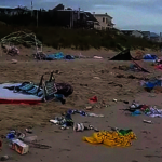 國殤節後積10噸垃圾 維州海灘變樣