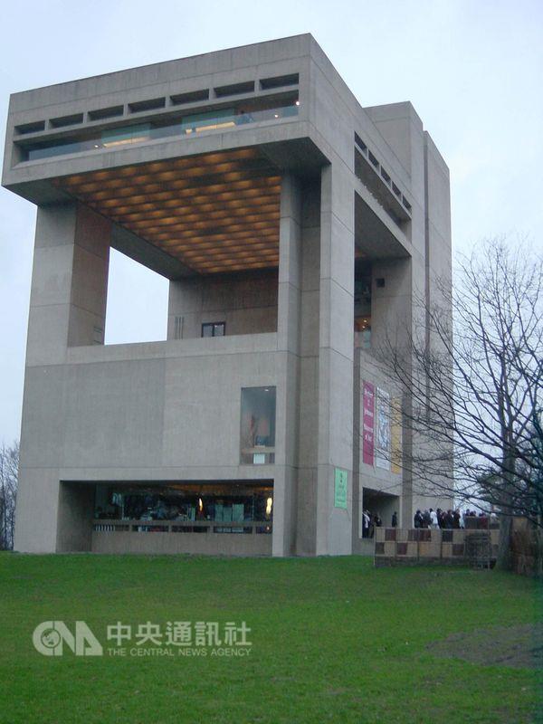 美國康乃爾大學強生美術館為貝聿銘作品,簡單乾淨的幾何圖形,為建築界鉅作。(中央社檔案照片)
