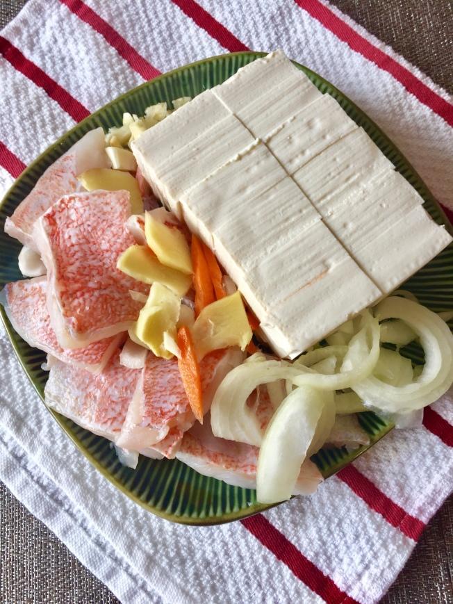 豆豉魚片煎豆腐材料