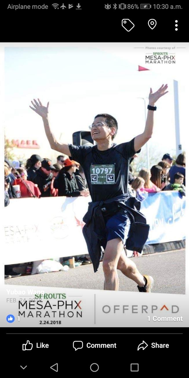 王玉葆說,長跑有益健康。(王玉葆/提供)