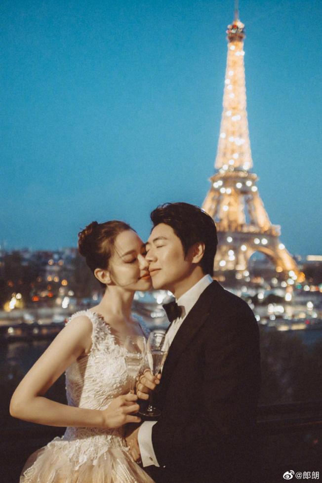 郎朗在巴黎舉辦婚禮。(取自郎朗微博)