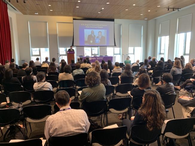 美國亞太社會工作研究所與紐約大學社工學院3日舉辦「探索服務亞裔人群全人健康的有效模式」研討會。(記者和釗宇/攝影)