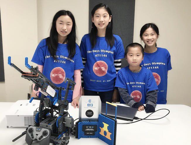 封面故事|華裔女孩草根訓練 闖進機器人世界賽