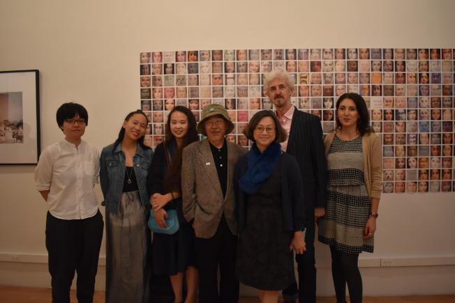 由紐約台美文藝協會、紐約拉丁美洲藝術中心舉辦的「都會部落」展覽日前舉辦開幕茶會。(記者顏嘉瑩/攝影)