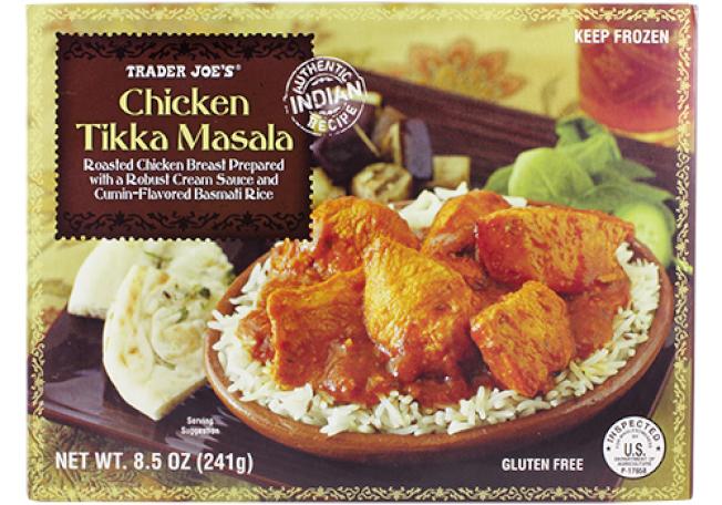 粉絲讚美Trader Joe's的印度咖哩雞達到餐館水準,但價錢只要3.69元。 (取自Trader Joe's 官網)