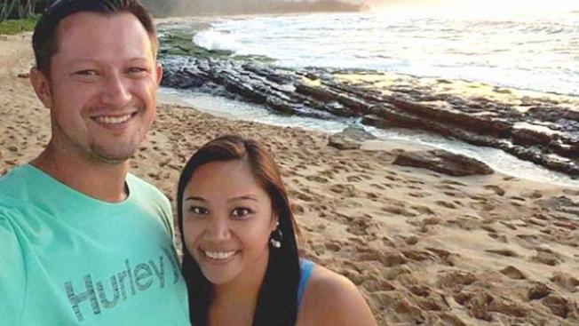 從德州前往斐濟度假的年輕夫婦米雪兒和大衛.保羅,抵達斐濟幾天內,即因罹患神祕疾病雙雙去世。( 取自臉書)