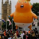 英人「我們不要川普來」 馬侃號、嬰兒氣球上陣