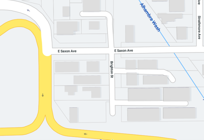 聖蓋博市10號公路附近發生警察行動,目前10號西向San Gabriel Blvd至Del Mar Ave一段全部封路。(圖:取自谷歌地圖)
