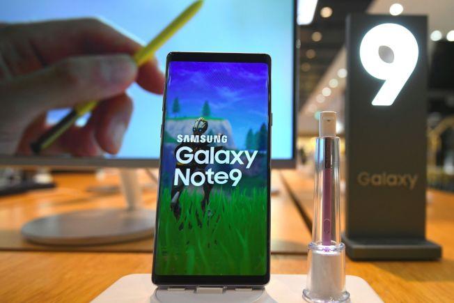 ACSI調查顯示 ,三星的「Galaxy Note 9」現在是美國最受歡迎的智能手機。(Getty Images)