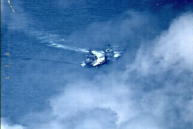 美俄軍艦7日差點在東海相撞,事後兩國互相指責對方。 歐新社