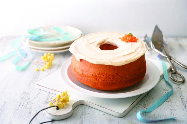 胡蘿蔔戚風蛋糕。(圖:帕斯頓數位多媒體有限公司提供)