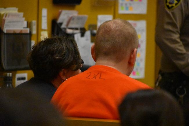 程家白人女婿羅馬斯首度在舊金山出庭,由公辯律師辯護。(記者李秀蘭/攝影)