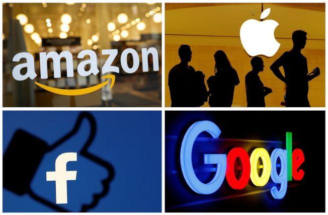 亞馬遜(左上)拉下Google和蘋果,成為全球最有價值品牌。路透