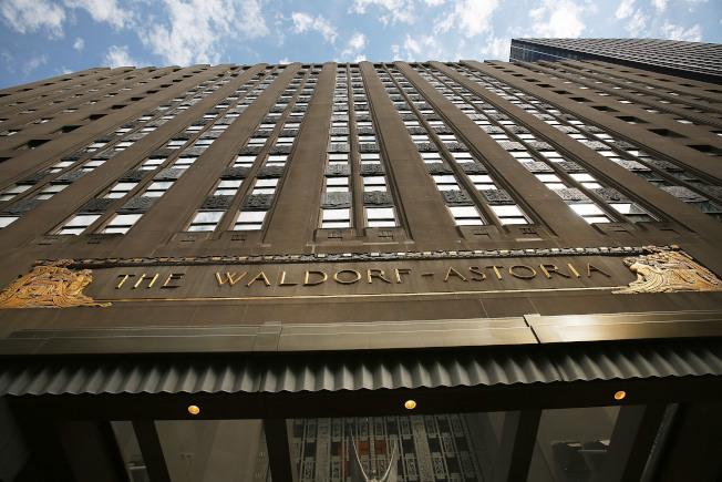 華爾道夫大酒店改建豪華公寓今秋起開售。(本報檔案照)