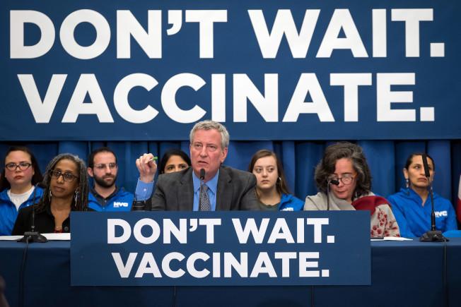 市長麻疹緊急行政令公布至今,全市已有十所學校因違規被關閉。(本報檔案照)
