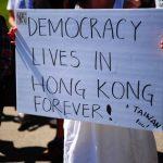 支持香港「反送中」 華埠大遊行