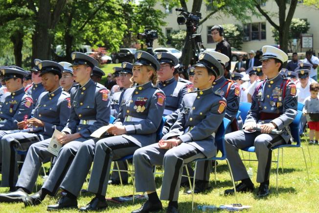 紐約軍校在校內舉辦第129屆畢業典禮,21名學生畢業。(記者劉大琪╱攝影)