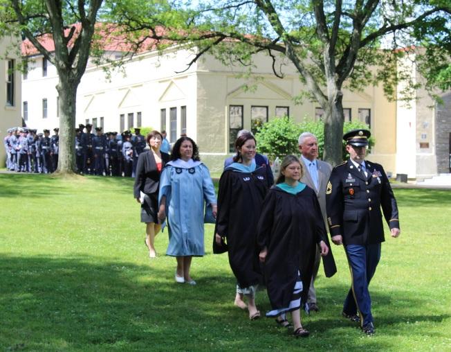 紐約軍校在校內舉辦第129屆畢業典禮。(記者劉大琪/攝影)