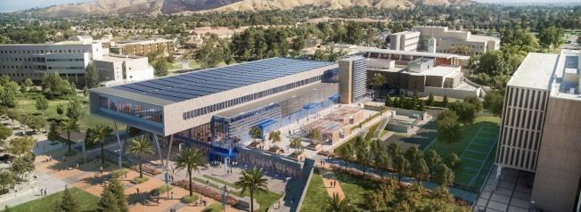 聖伯納汀諾州大學生中心擴建效果圖。(圖:CSUSB提供 )