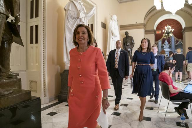 民主黨籍國會眾院議長波洛西說,她對川普總統「連談都不想談」。(美聯社)