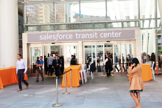 Salesforce交通中心去年開幕時,成為灣區焦點。(本報檔案照)