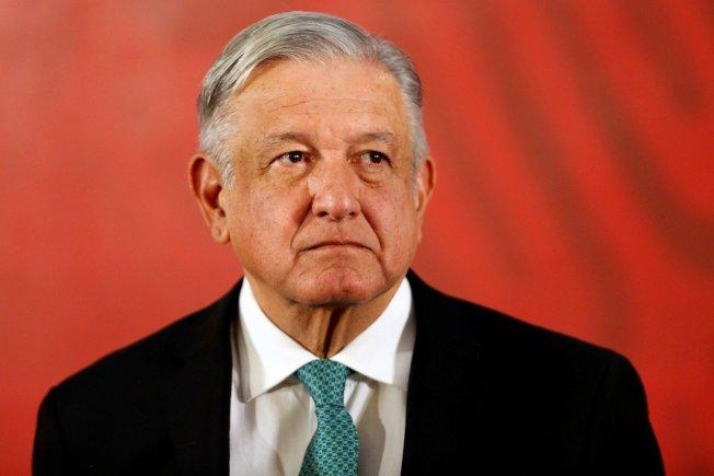 墨西哥總統羅培茲歐布拉多(Andres Manuel Lopez Obrador)。 路透