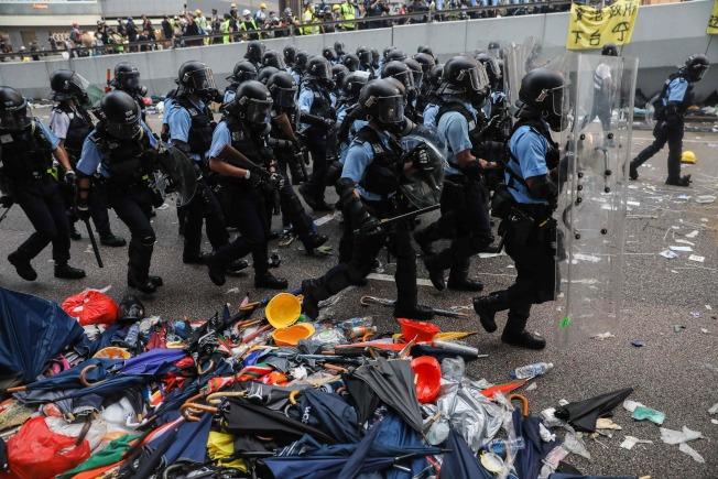 反送中爆衝突。Getty Images