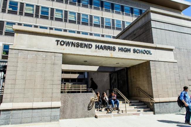 「美國新聞與世界報導」都會區最佳高中排名,法拉盛的湯森哈里斯高中獲評大紐約地區第一。(取自學校網站)