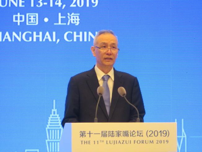 國務院副總理劉鶴表示,中國經濟結構已經從外需導向逐步轉向內需驅動,經濟再平衡已經取得全面的進展。(特派記者林則宏攝影)