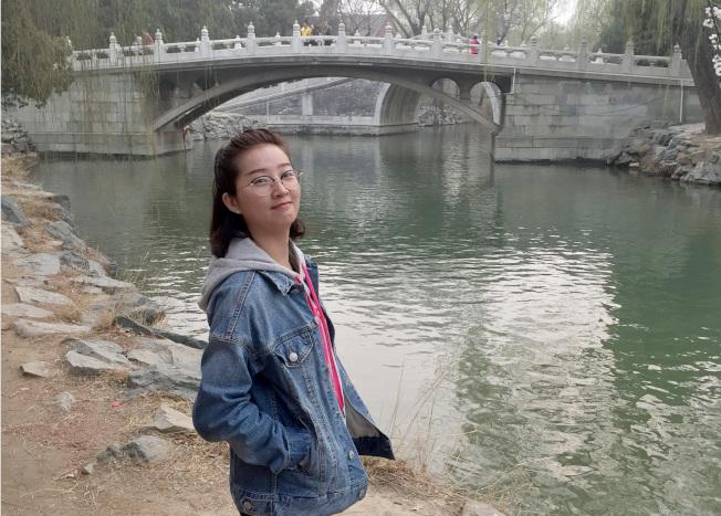 2017年6月9日失蹤的中國訪問學者章瑩穎。(美聯社)